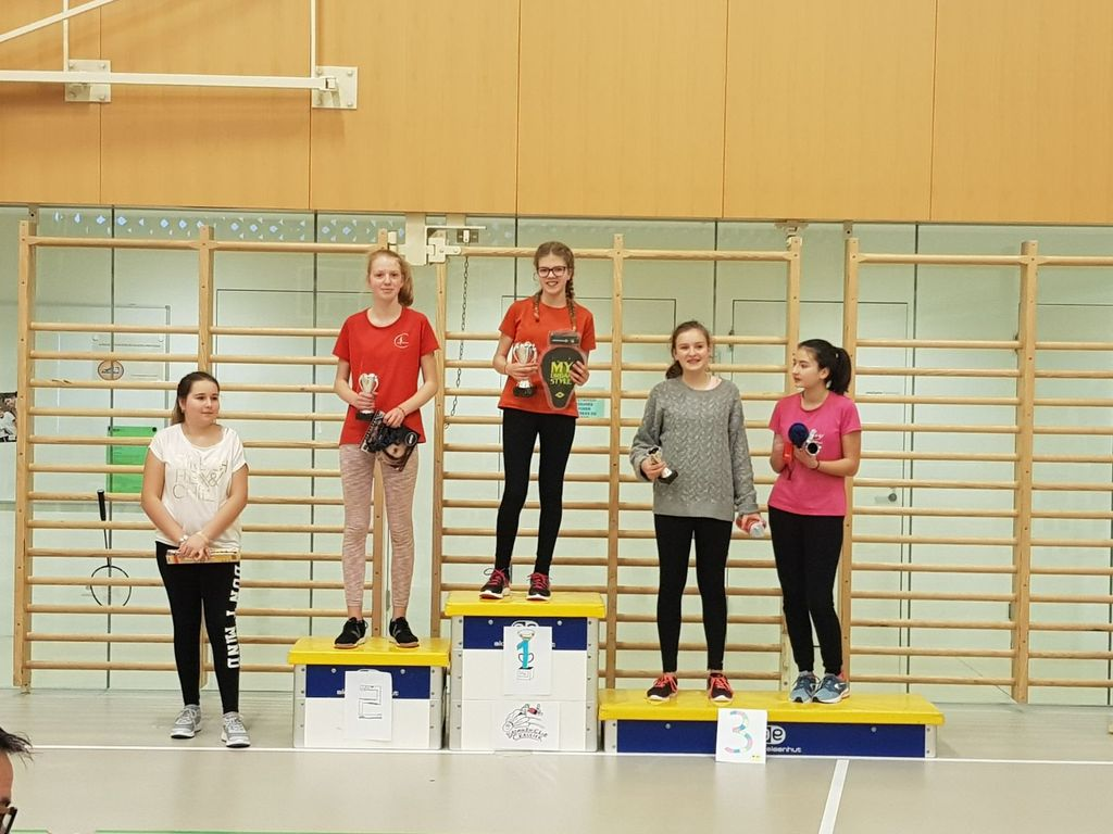 Podium juniors II filles 2017/18